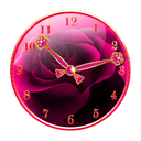Pink Gold Clock Widget