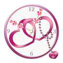 Love Heart Clock widget