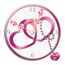 Love Heart Clock widget