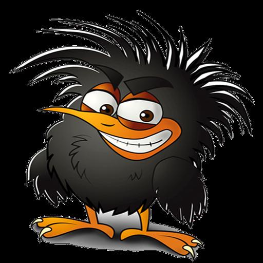 Смешной рисунок вороны, екатерина именины