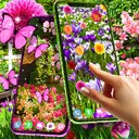 Flower garden live wallpaper