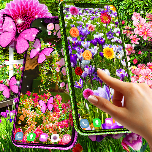 Flower garden live wallpaper