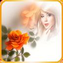 قاب عکس گل رز