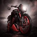 پس زمینه موتور سیکلت