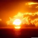 پس زمینه غروب خورشید