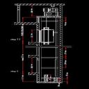 آهن کشی و نقشه کشی چاه آسانسور