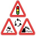 آموزش تابلوهای رانندگی (اخطاری)