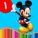 کتاب رنگ آمیزی - میکی موس ۱
