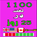 1100 لغت در 25 روز