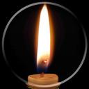 قاب عکس شمع