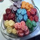 ژله های رنگارنگ