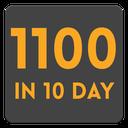 1100 in 10 day