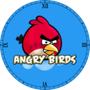 Angry birds clock Live Wallpaper