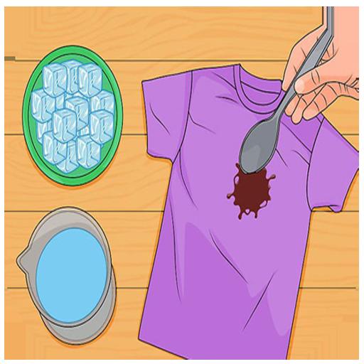 پاک کردن کثیفی لباس