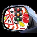آزمون رانندگی (آینه بغل)