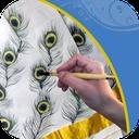 طراحی و نقاشی روی پارچه سفید (فیلم)