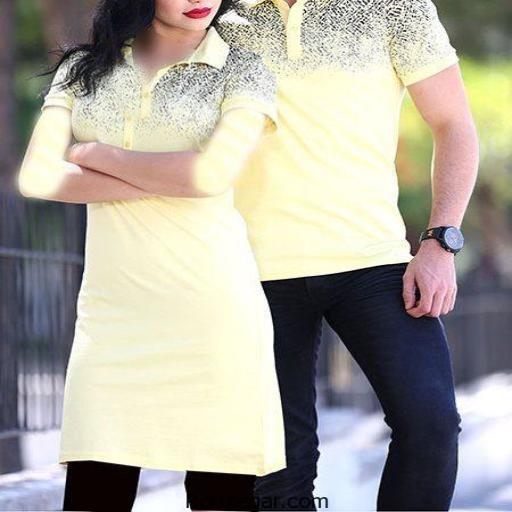 ست کردن لباس زن و شوهری
