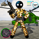 Army Stickman US Rope Hero counter Gangstar