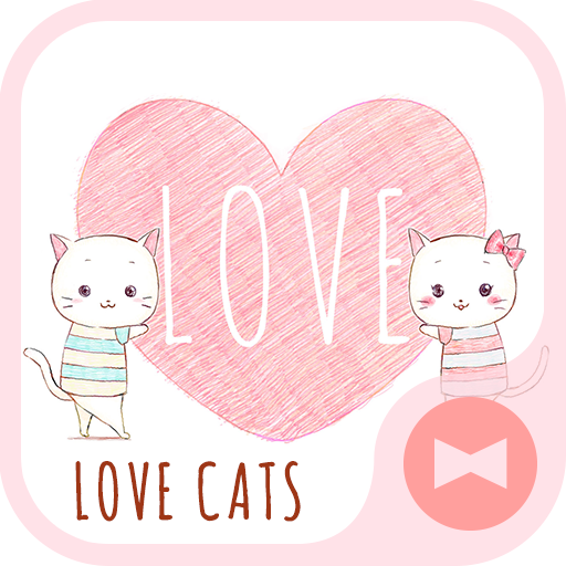 Pair Wallpaper - Love Cats