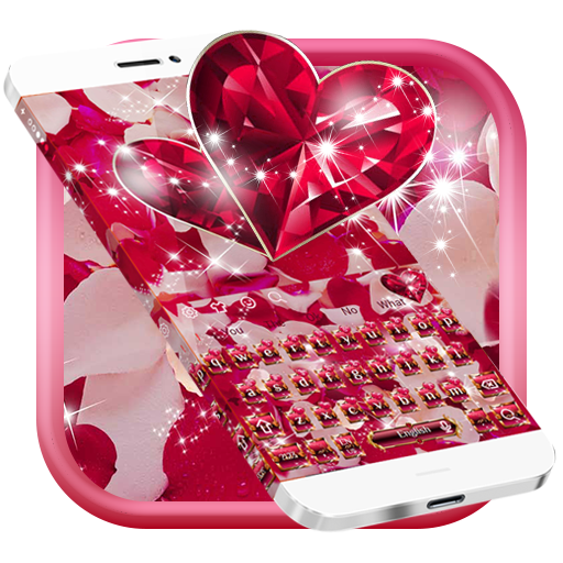 Diamond Heart Rose Keyboard