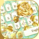 Gold Flower Keyboard