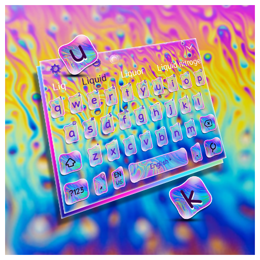 Liquid Rainbow Keyboard Theme