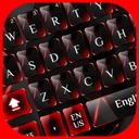 Red Black Glass Keyboard