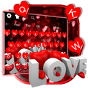 Red Glitter Love Keyboard