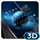 Lively Parallax Earth Keyboard