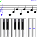 ¼ learn sight read music notes piano tutor