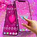 Pink glitter live wallpaper