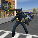 Panther Stickman Rope Hero spider Crime Battle