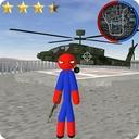 Stickman Spider Rope Hero Gangstar City