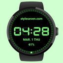 Digital Watch Face-7 for Wear OS by Google