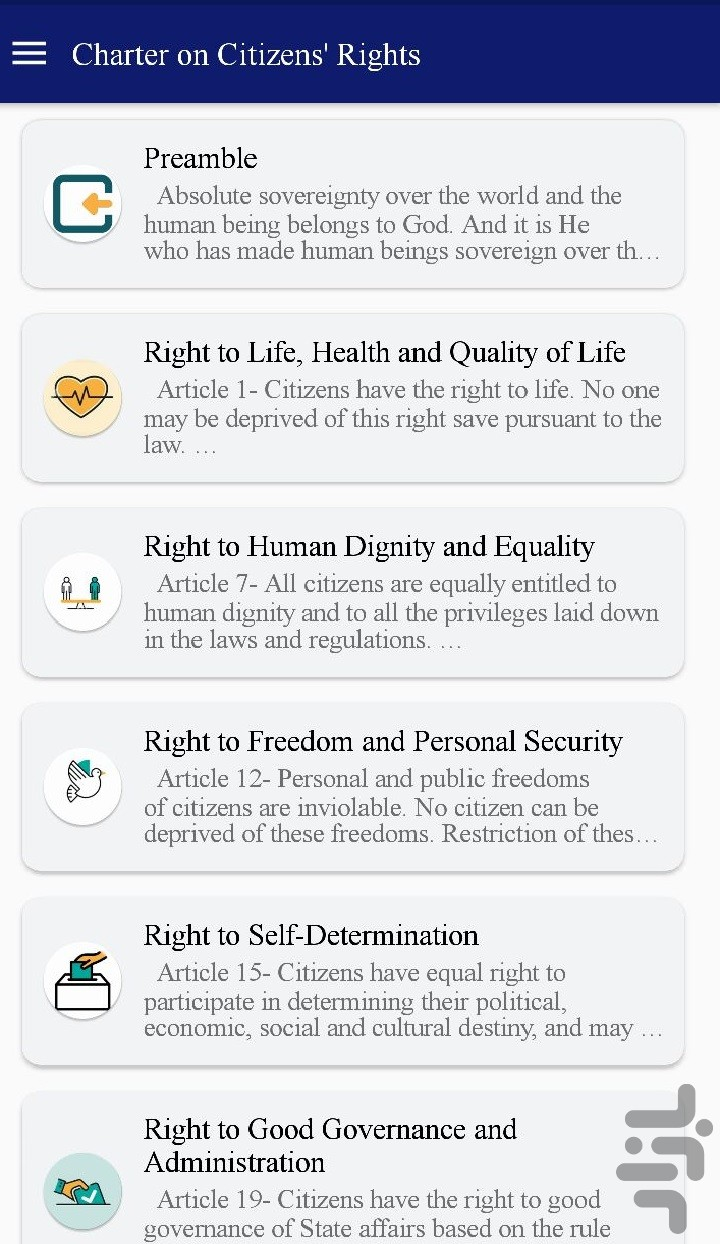 Charter on Citizens' Rights