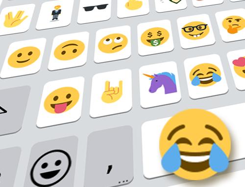 Text emoji keyboard