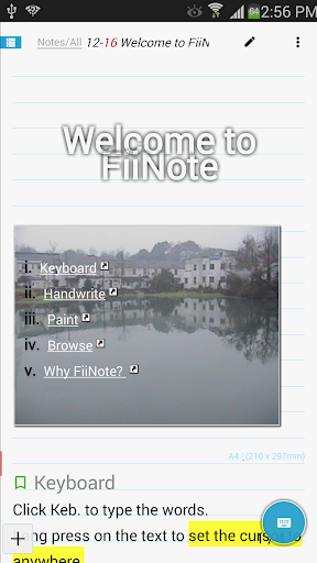 FiiNote, note everything