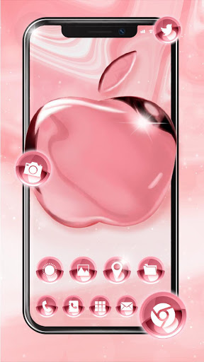 Pink Rose Gold Launcher Theme Live Hd Wallpaper For Android Download Cafe Bazaar