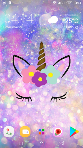 Cute Unicorn Girl Wallpapers Kawaii Backgrounds For Android Download Cafe Bazaar