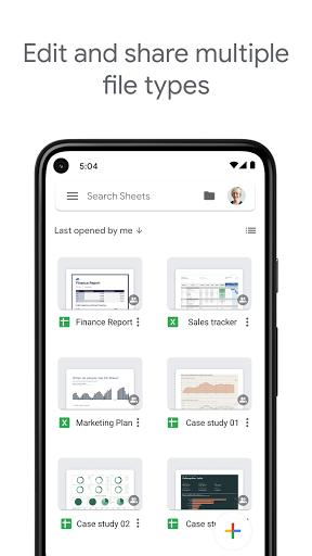 Google Sheets - Image screenshot of android app