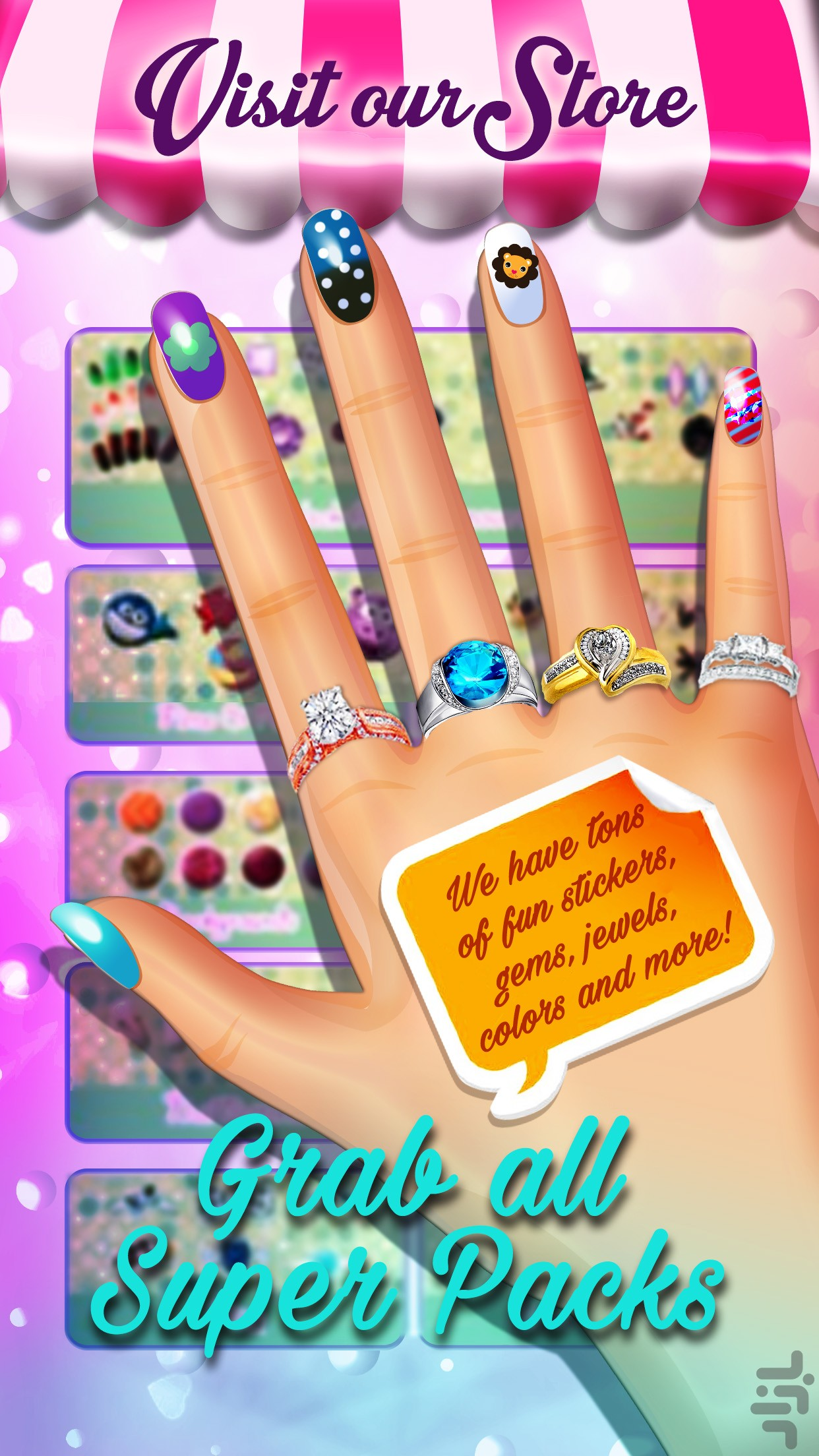 Princess Kim\'s Nail Salon FREE - Download   Install Android Apps ...