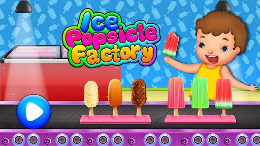 بازی Ice Popsicle Factory Frozen Ice Cream Maker Game دانلود کافه بازار