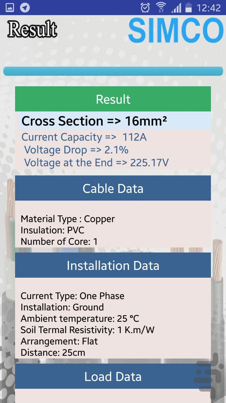Cable sizing - Download | Install Android Apps | Cafe Bazaar
