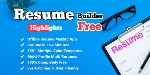 Resume Builder App Free Cv Maker With Pdf Format Download