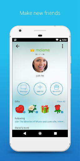 Mobile video chat rooms