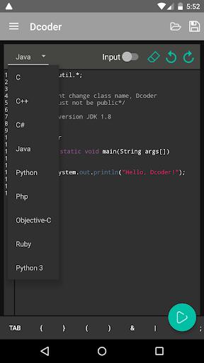 Dcoder, Compiler IDE :Code & Programming on mobile for Android