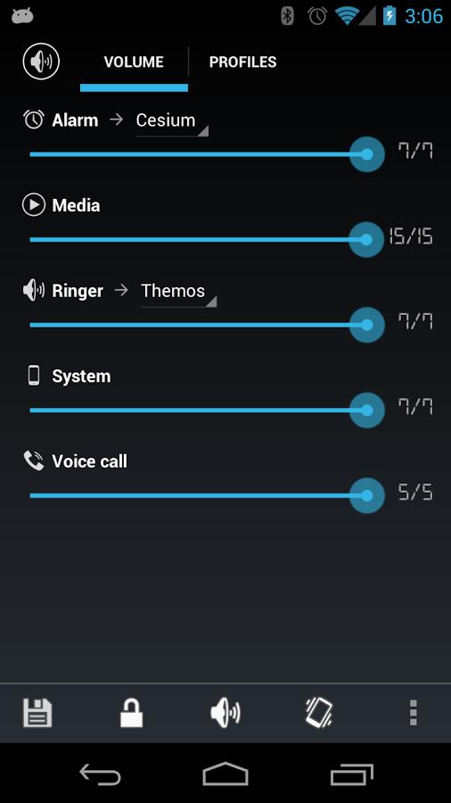 Audio manager app