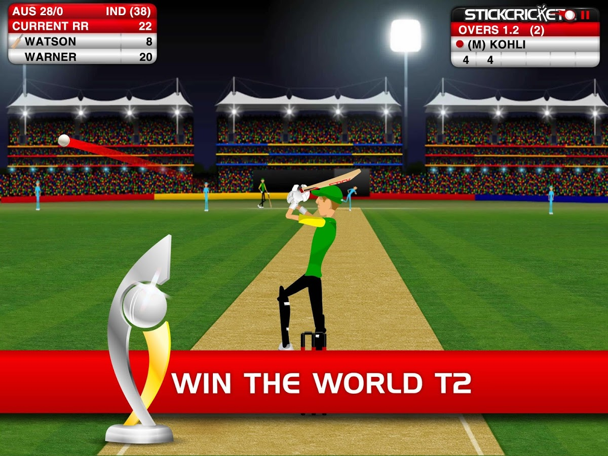 Aug 20,  · Hit out or get out in the world's most popular cricket game, Stick Cricket®! Easy to play yet hard to master, Stick Cricket offers you the chance to: DOMINATE THE WORLD From minnows to modern day masters, only a Stick Cricket legend can successfully unlock and conquer all 14 countries en route to World Domination. WIN THE WORLD CUP The most coveted silverware in cricket is up for /5(K).