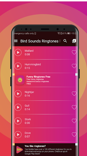 Bird Sounds Ringtones Free For Android Download Cafe Bazaar