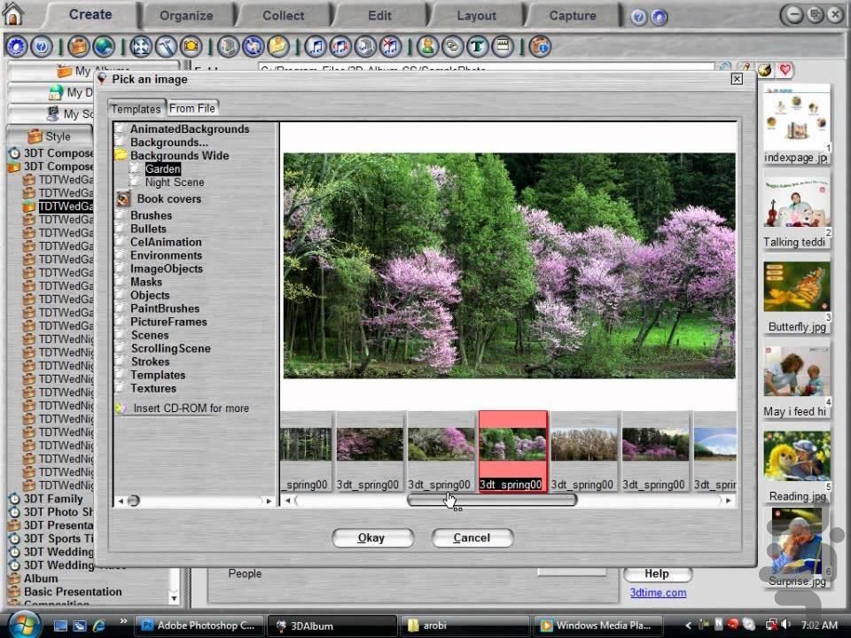 3d album video editing software